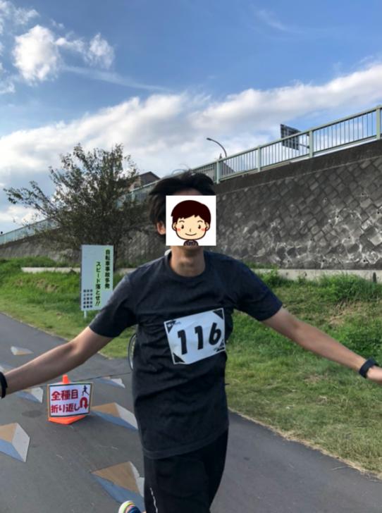 フルマラソンゴールの瞬間